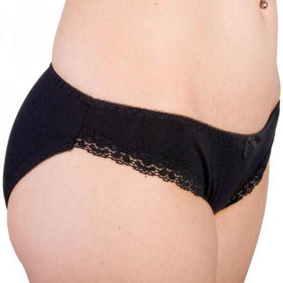 Dámské kalhotky Molvy černé s krajkou (MD-750-KEB)
