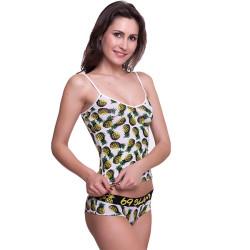 Dámské Tílko 69SLAM Top Bamboo Pineapples White S-Top