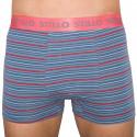 Pánske boxerky Stillo sivé s červenými prúžky (STP-010)