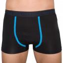 Pánske boxerky Stillo čierne s modrým pruhom (STP-016)