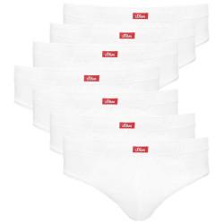 7PACK Pánské slipy S.Oliver bílé (26.899.97.2942.0100)