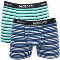 2PACK pánske boxerky Molvy viacfarebné (KP-044-BEU)