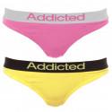 2pack dámska tangá Addicted ružová žltá