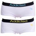 2PACK dámske nohavičky Addicted biela modrá biela žltá