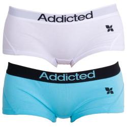 2PACK dámské kalhotky Addicted modrá bílá