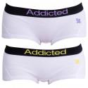 2PACK dámske nohavičky Addicted bielo fialová bielo žltá