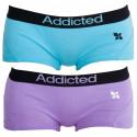 2PACK dámske nohavičky Addicted fialová modrá
