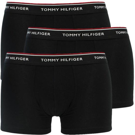 3PACK pánské boxerky Tommy Hilfiger černé nadrozměr (1U87905252 990)