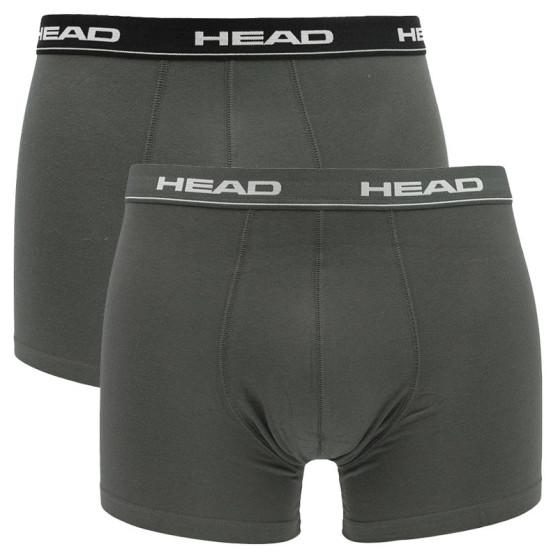 2PACK pánské boxerky HEAD šedé (841001001 415)
