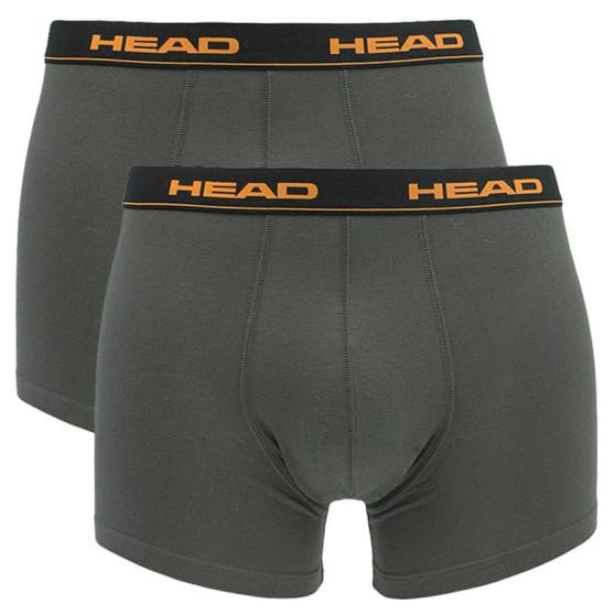 2PACK pánské boxerky HEAD šedé (841001001 862)