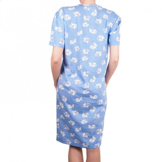 Dámská noční košile Molvy modrá s květinami
