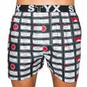 Pánske trenky Styx art športová guma varovanie (B553)