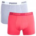 2PACK pánske boxerky Puma viacfarebné (521015001 072)