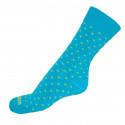 Ponožky Infantia Classicline modré so žltými krížiky