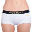 Dámske nohavičky Addicted biela žltá