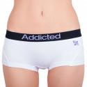 Dámske nohavičky Addicted biela fialová