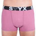 Pánske boxerky Styx športová guma ružové (G9)