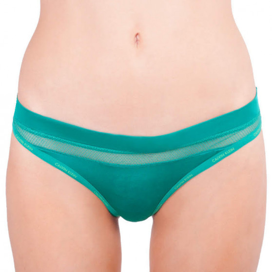 Dámská tanga Calvin Klein zelená (QF4428E-GXS)
