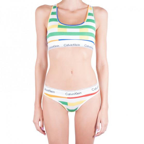 Dámská tanga Calvin Klein vícebarevná (QF4614E-1ZM)