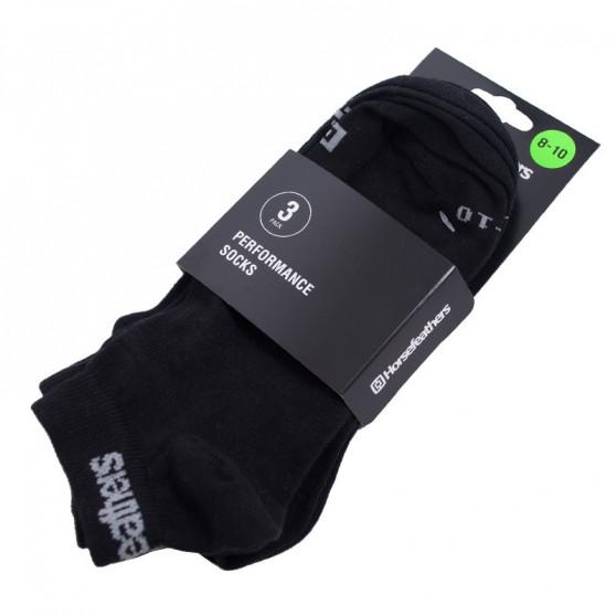 3PACK ponožky Horsefeathers rapid černé