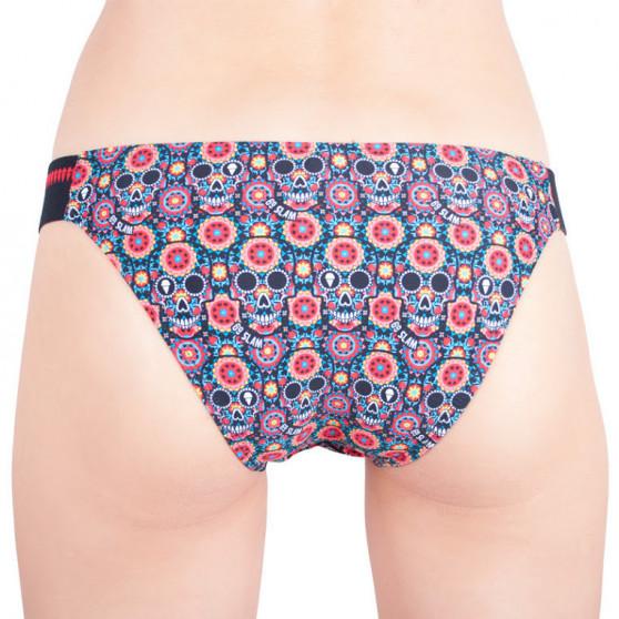 Dámské plavky 69SLAM kalhotky rocky bikini flower skull