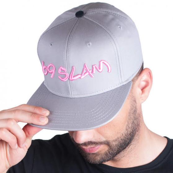 Kšiltovka 69SLAM logo - JP šedá