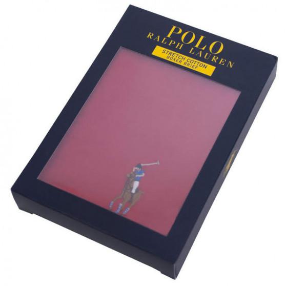 Pánské boxerky Ralph Lauren červené (714707318002)