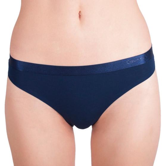 Dámská tanga Calvin Klein tmavě modrá (QF1950E-0PP)