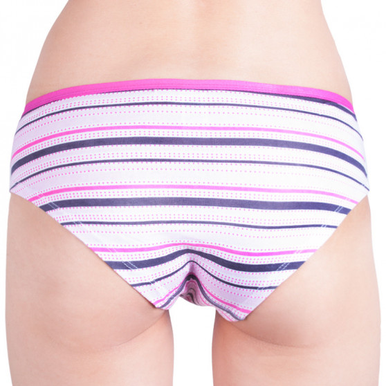 Dámské kalhotky Molvy růžovo šedé proužky