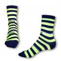 Ponožky Styx crazy modro žlté prúžky (H323)
