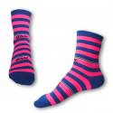 Ponožky Styx crazy modro ružové prúžky (H321)