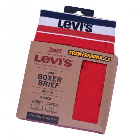 2PACK pánské boxerky Levis vícebarevné (985016001 786)