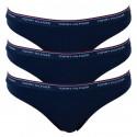 3PACK dámske tangá Tommy Hilfiger tmavo modré (UW0UW00048 416)