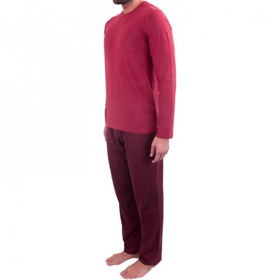 Pánské pyžamo Calvin Klein červené (NM1607E-QBN)