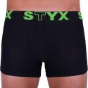 Pánske boxerky Styx športová guma nadrozmer čierne (R962)