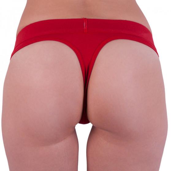 Dámská tanga Calvin Klein červená (QF4920E-RYM)