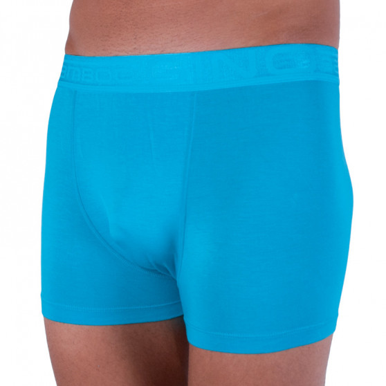 Pánské boxerky Gino bambusové modré (73089)