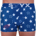 Pánske boxerky Styx art športová guma hviezdy (G658)