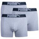 3PACK pánske boxerky Puma sivé (681030001 032)