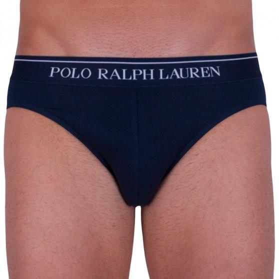 3PACK pánské slipy Ralph Lauren modré (714513423005)