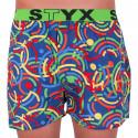Pánske trenky Styx art športová guma farebné (B659)