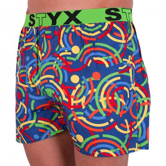 Pánské trenky Styx art sportovní guma barevné (B659)
