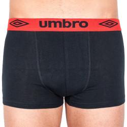 Pánské boxerky Umbro short černé s červenou gumou