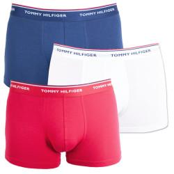 3PACK pánské boxerky Tommy Hilfiger vícebarevné nadrozměr (1U87905252 611)