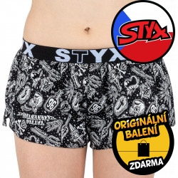 Dámské trenky Styx art sportovní guma tattoo (T854)