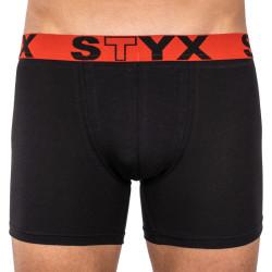 Pánské boxerky Styx long sportovní guma černé (U964)