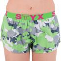 Dámske trenky Styx art športová guma zelený maskáč (T559)