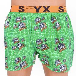 Pánské trenky Styx art sportovní guma fotbal (B655)