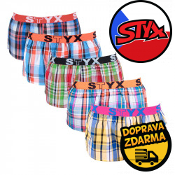 5PACK dámské trenky Styx sportovní guma vícebarevné (T61122263136)