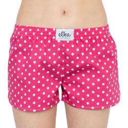 Dámské trenky ELKA růžové s puntíky (W00328)